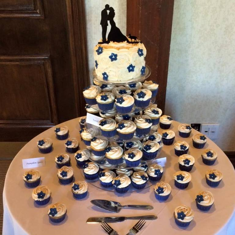 Ancaster Mill Navy Cupcake Tower
