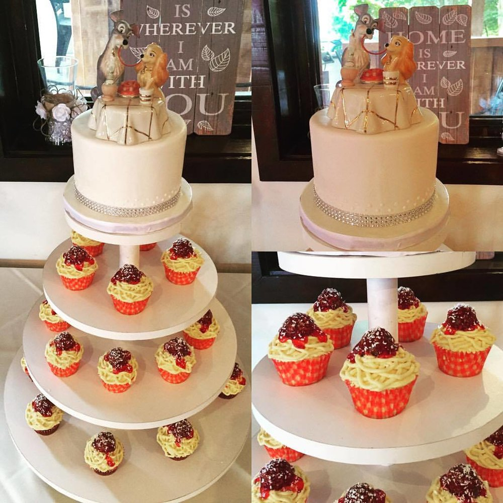 Knollwood Lady and the Tramp Cupcake Tower