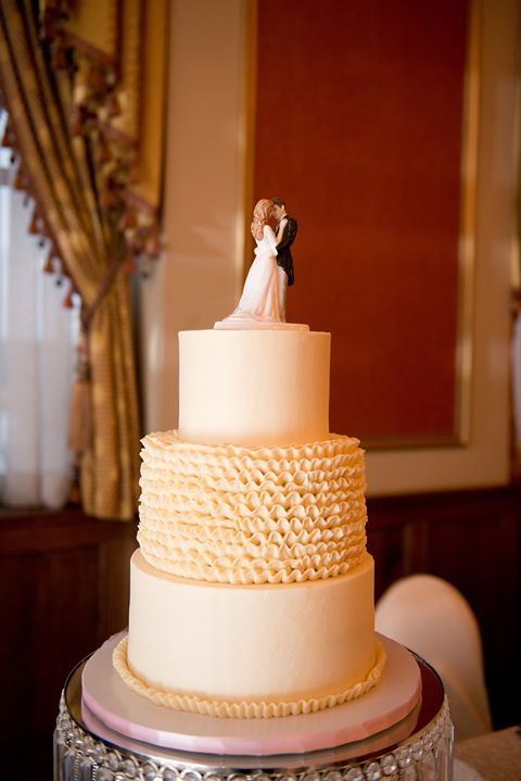 Buttercream Liuna Station Wedding Cake