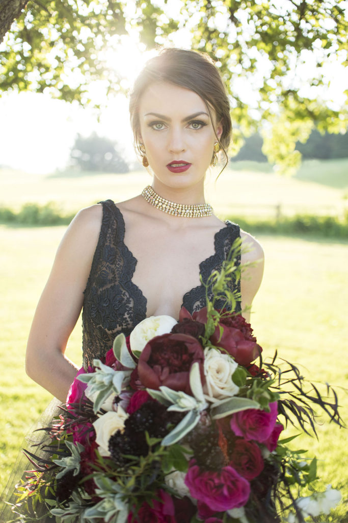 Berry Toned Bride