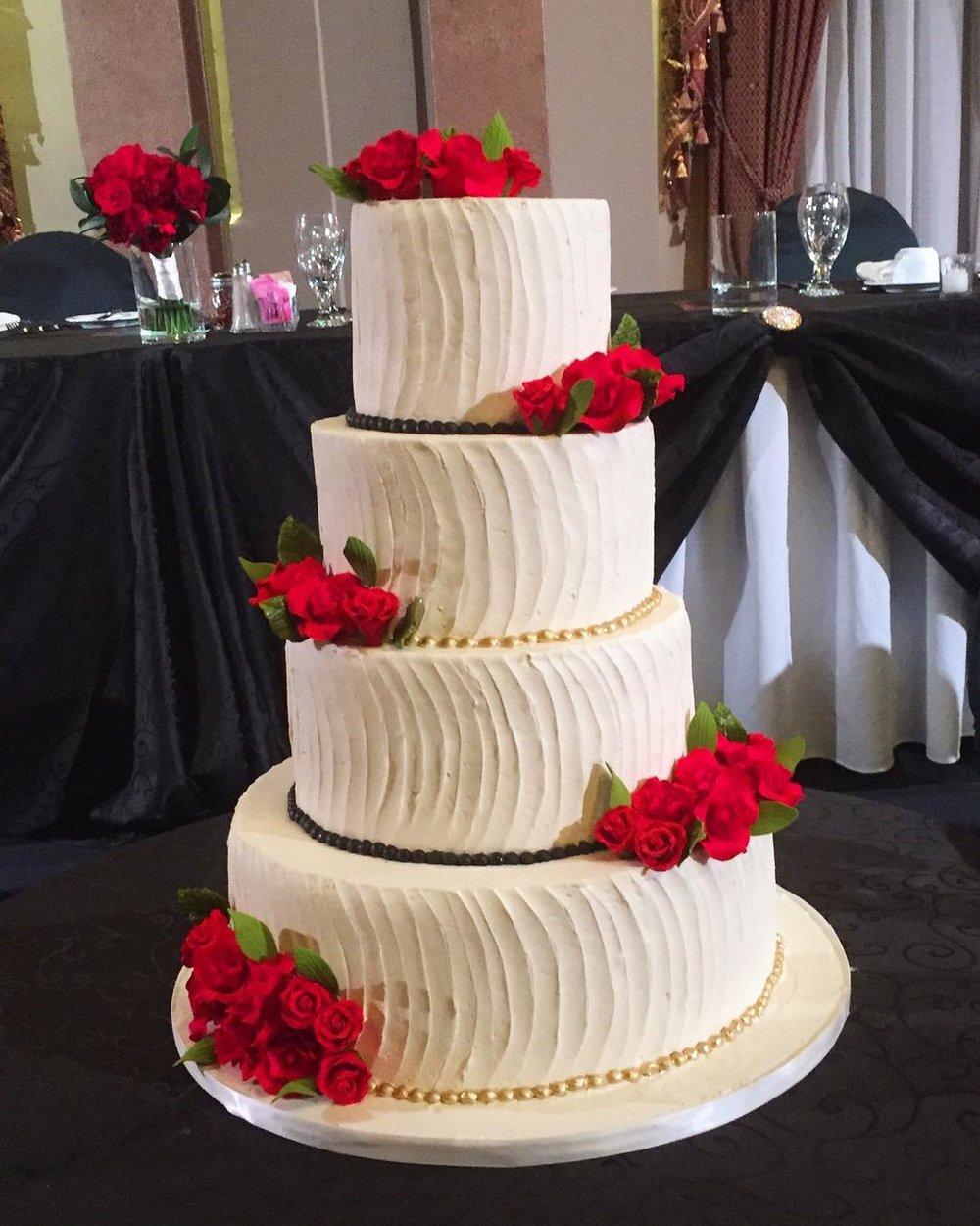 Liuna Station Wedding Cake
