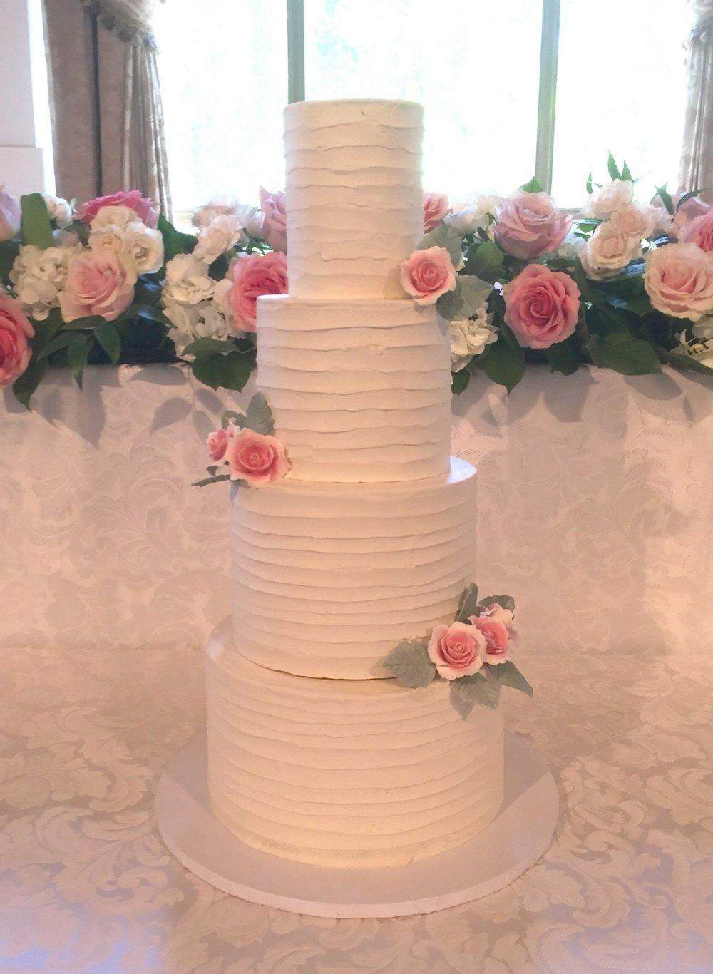 Buttercream Blush wedding cake