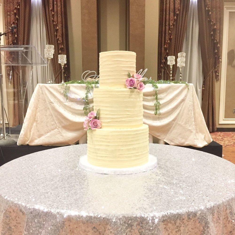 Buttercream Lilac Wedding Cake
