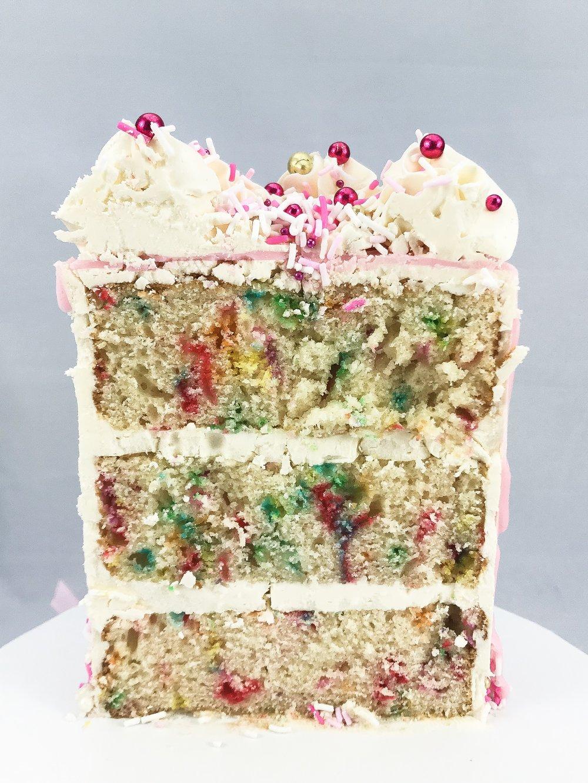 Funfetti Cake inside