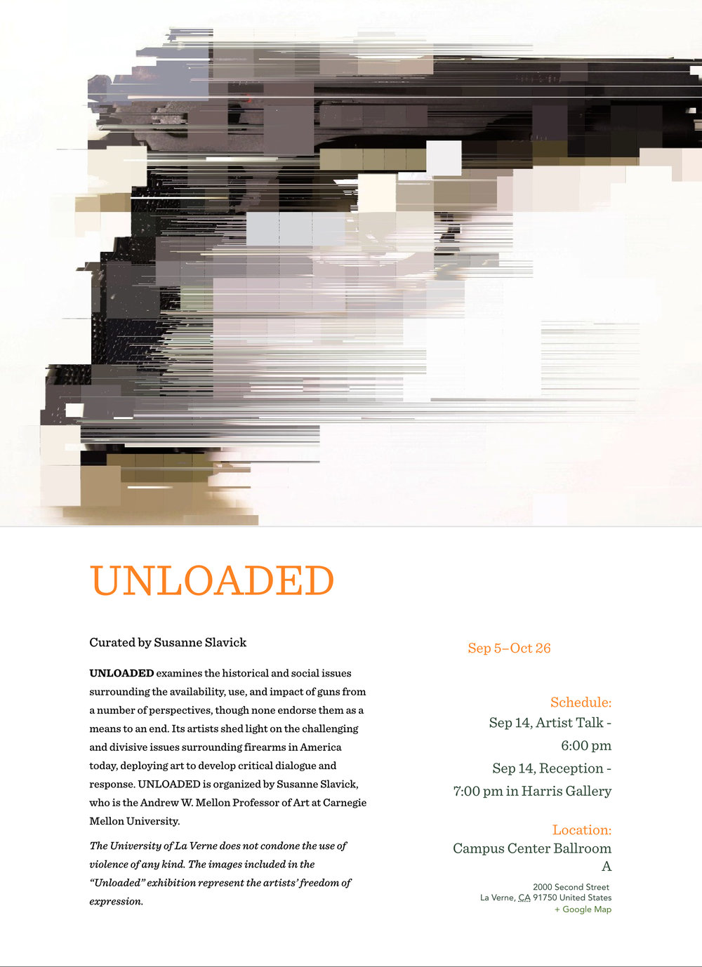 Unloaded At Harris Gallery University Of La Verne Susanne Slavick