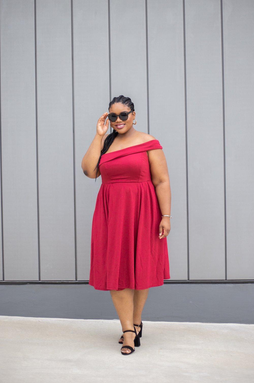 torrid red dress