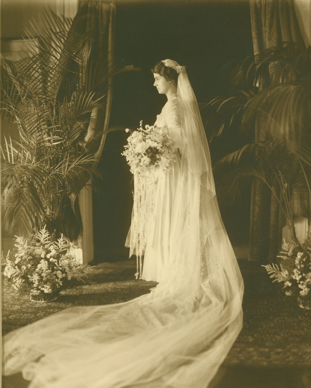 Pictured above: Henry Francis du Pont's bride to be, Ruth Wales