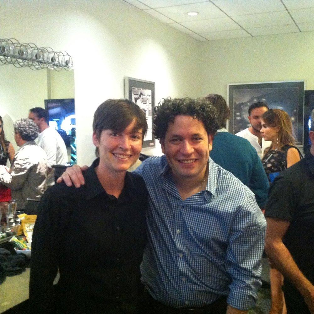 Backstage with Gustavo Dudamel