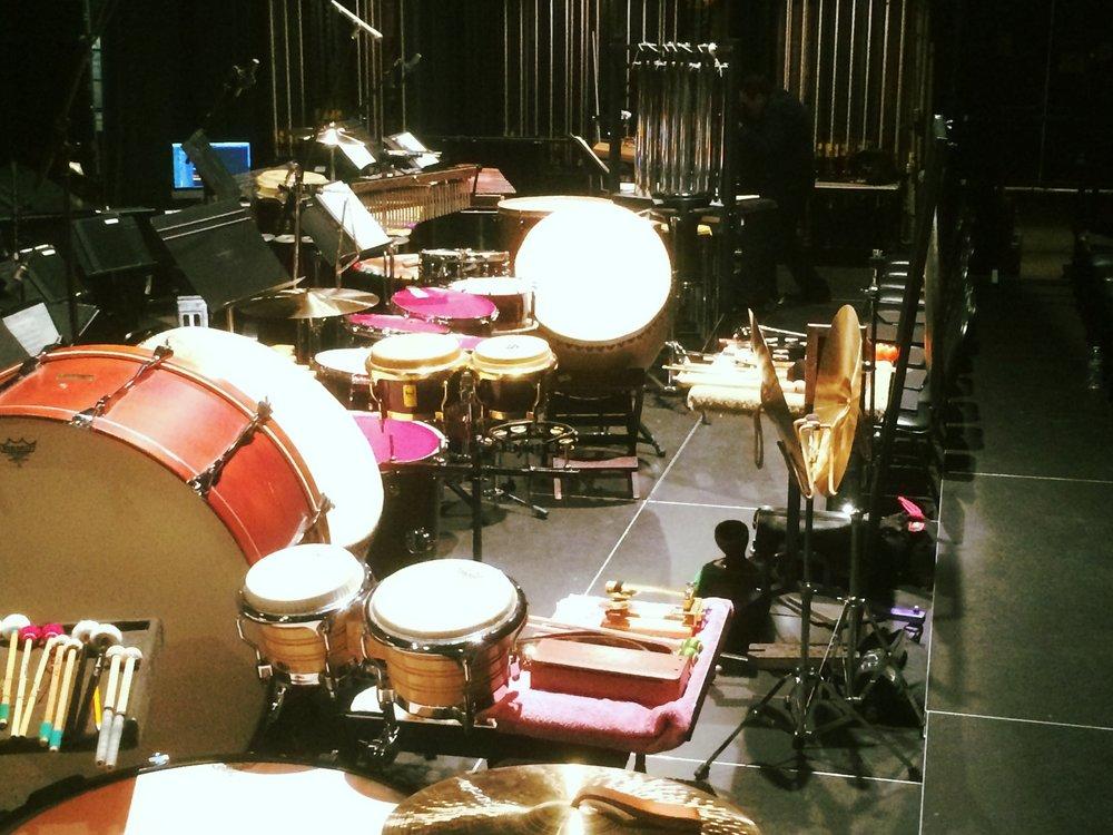 Setup for Emmy Concert