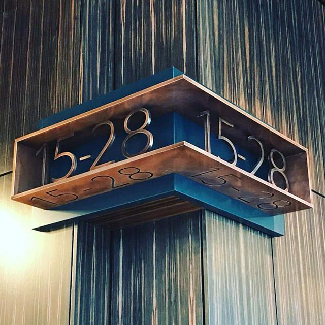 Wayfinding at The Edison by the incredibly talented @makedesignlab! #repost #wayfinding #interiordesign #architecture