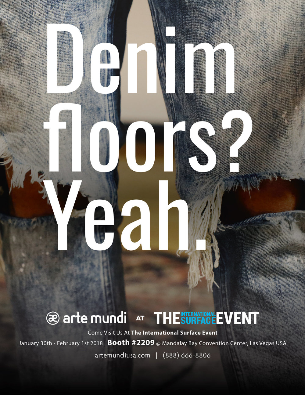 In this month's issue of Floor Covering News, we teased our new denim product flooring line.