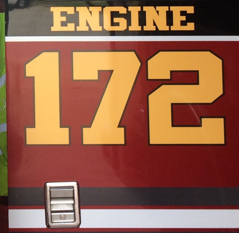 Door artwork on Engine 172.