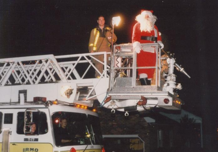 Santa Claus on the old Arial Cat, Tower 17.
