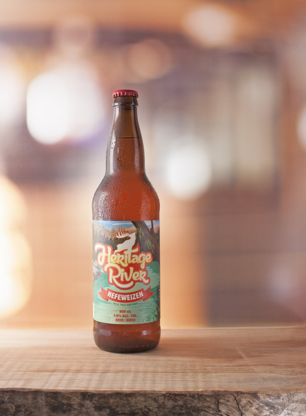 Heritage River Hefeweizen: Hazy, sunset orange  |  IBU's: 33  |  ALC: 5.1%