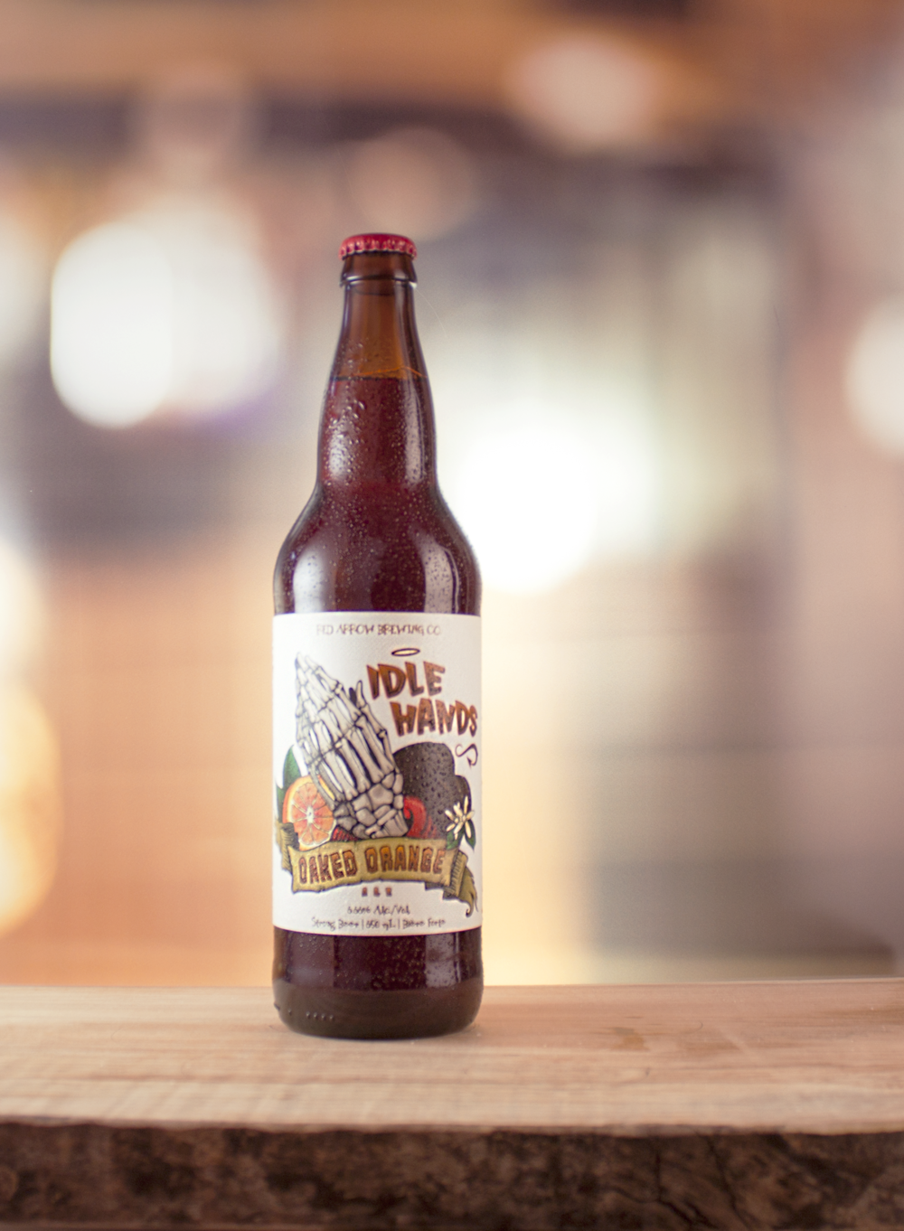 Idle Hands Oaked Orange Ale: Brown | IBU's: 35 | ALC: 6.66%
