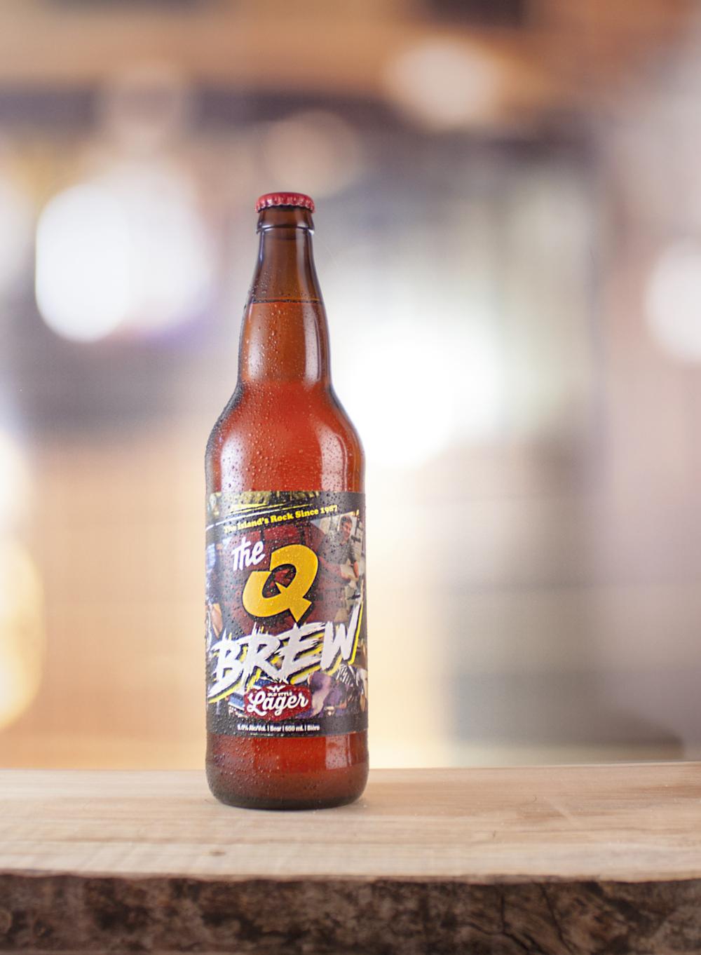 Q Brew Lager: Vibrant gold |IBU's: 20 | ALC: 5%