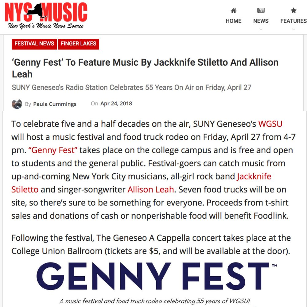- This article, written by Paula Cummings of NYS Music, is a promotion for