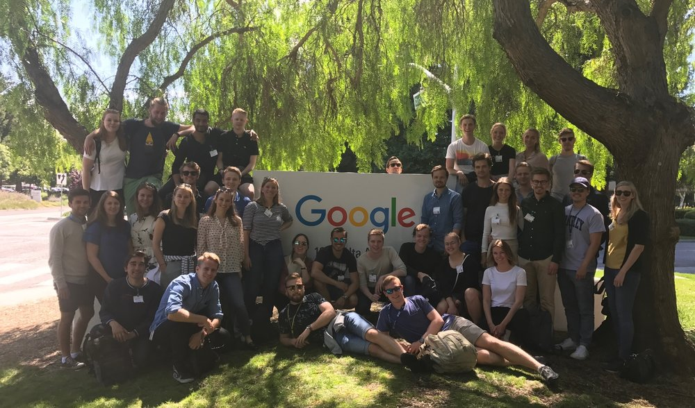 Interns from the Norwegian School of Entrepreneurship visited also Google during their summer in Silicon Valley.
