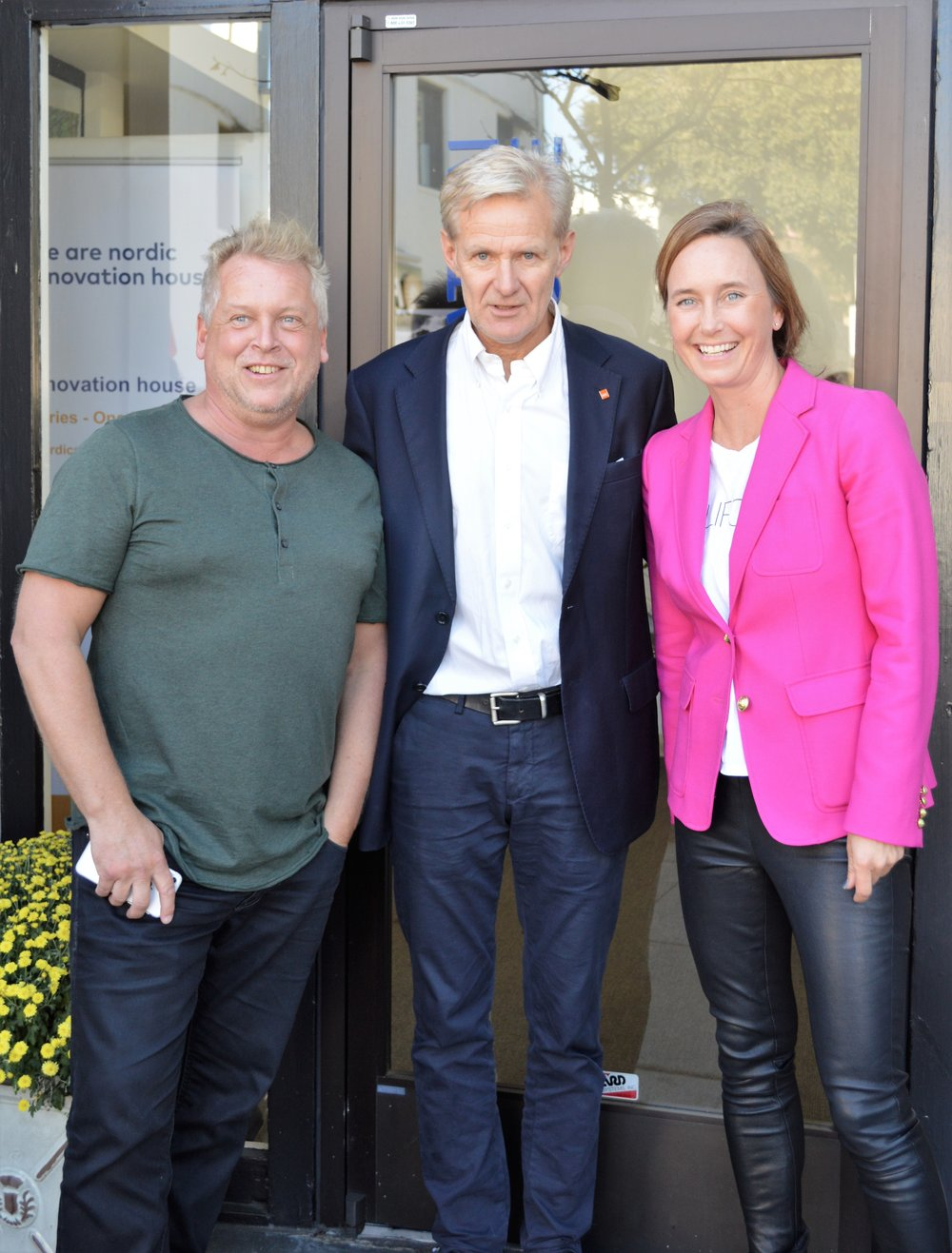 Lasse Andresen, CEO of ForgeRock, Jan Egeland, Secretary General of NRC  and Gro Dyrnes, Regional Director Innovation Norway Americas