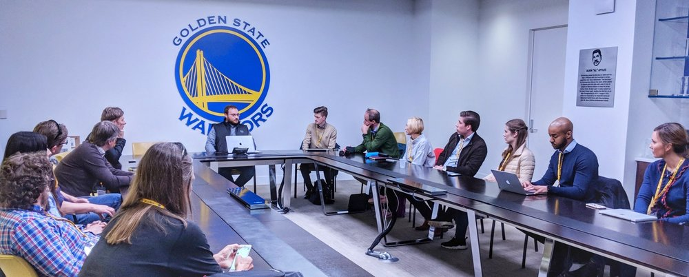 Nordic SportsTech companies talking about business with Golden State Warriors
