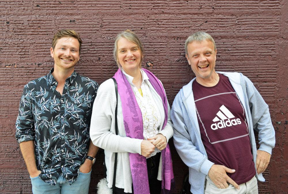 Sam Liddell, Steinunn Anna Gunnlaugsdóttir and Leifur Björn Björnsson of Locatify.