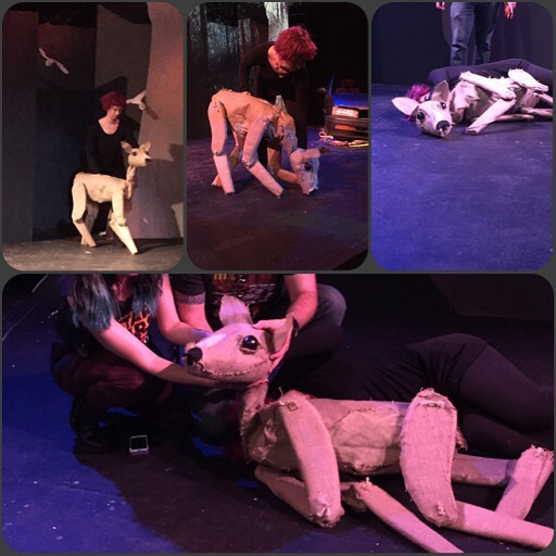 Collaboration is one puppeteer making a collage of the other puppeteer #sephtheplay #killthings