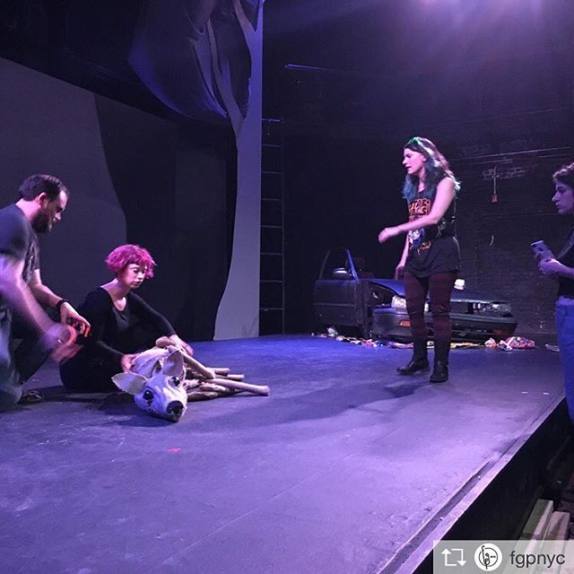 It takes a village to kill a deer puppet #sephtheplay