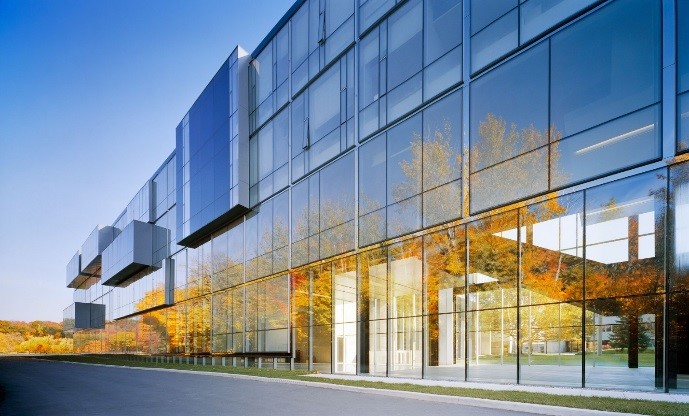 University of Toronto – Communications, Culture and Information Technology Building, Toronto   The project involves the construction above a parking garage to accommodate lecture theatres, a multi-media studio, an e-gallery, classrooms, laboratories, and offices.  (click for more)   Number of Storeys: 4 Size: 14, 500 m2  Photo Courtesy of Saucier + Perrotte Architectes