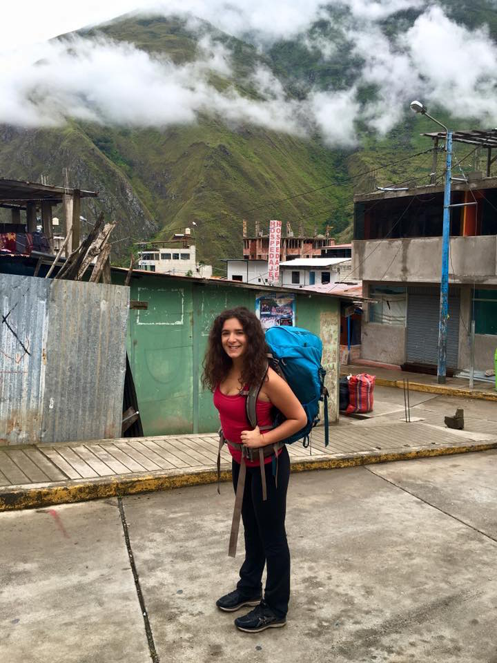 Backpacking through the mountains in Peru on my way to Machu Picchu