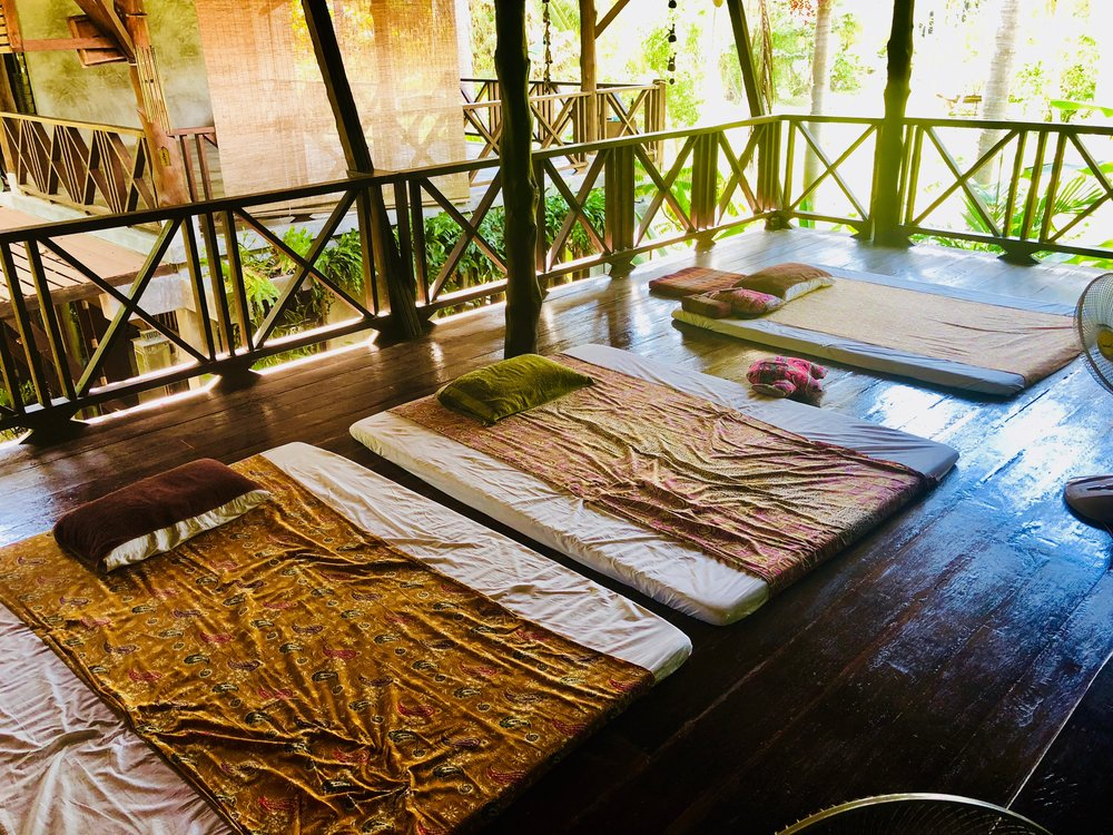 Massage beds at Siam Healing Center