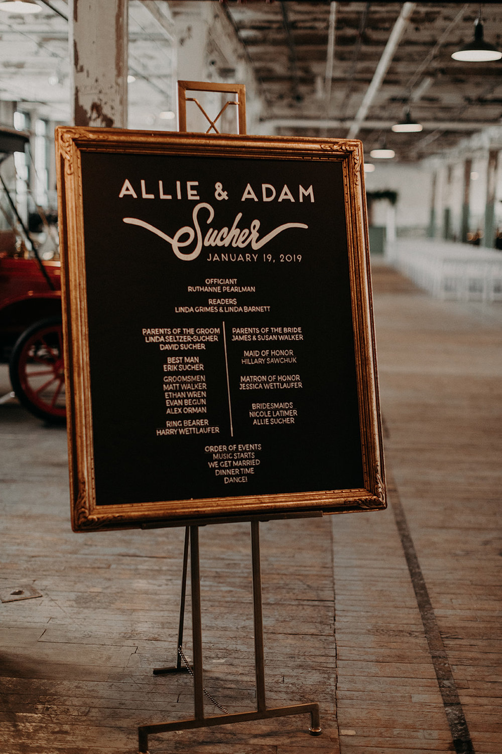 custom wedding planners detroit michigan event design paper goods florals signage welcome sign