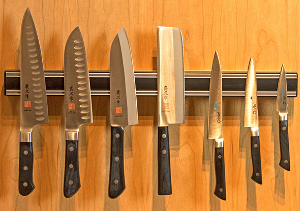 MAC knives were first manufactured in Japan approximately 40 years ago. They boast a combination of the best in Western design and Japanese knife-making craftsmanship. Every knife is shaped, assembled, polished, and sharpened by professional Japanese craftsmen in a series of up to sixty-four steps. We are pleased to carry offerings from both the MAC Professional and Japanese series.