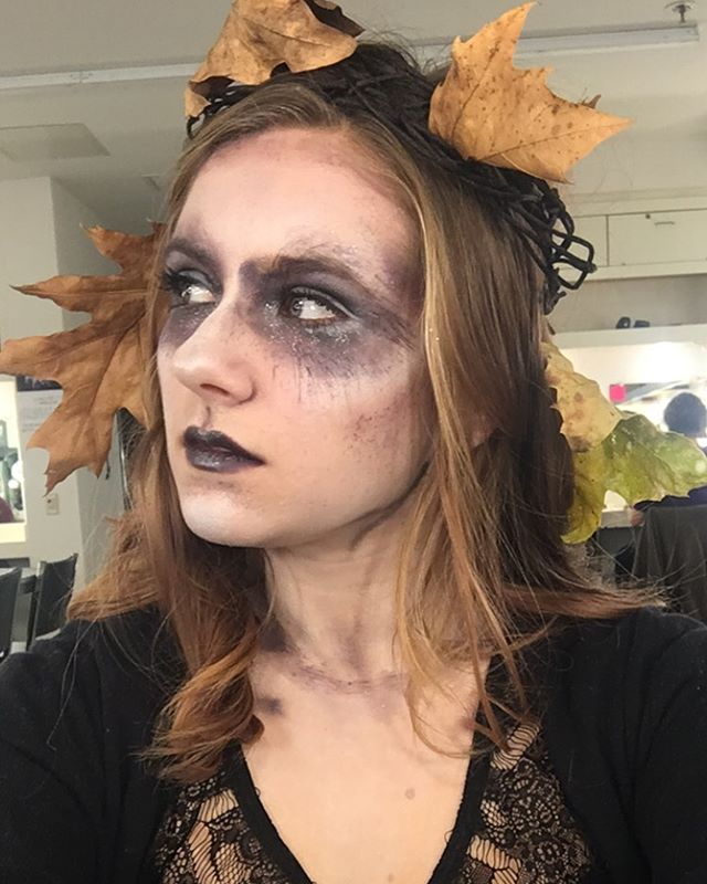 Fairy day in makeup class. #maddiethevampire #spookyfairy #makeup #contouring #spooky #ookyspooked #maddiethevampirestrikesagain