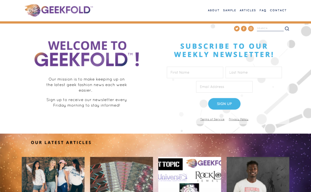 GeekFold.com Branding & Website Design