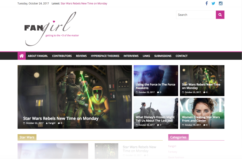 Genre News & Blog Website Re-Design