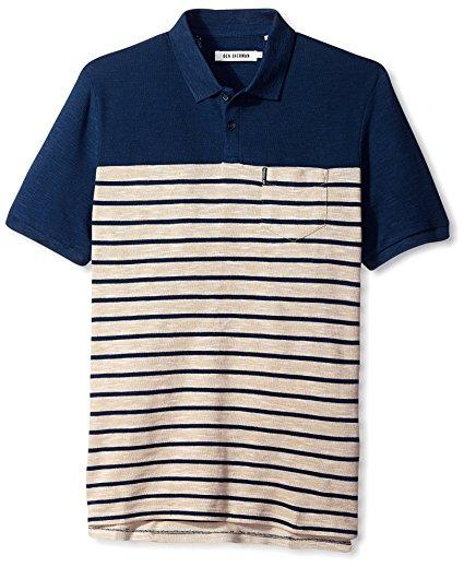 Ben Sherman Men's Slub Breton Stripe Polo