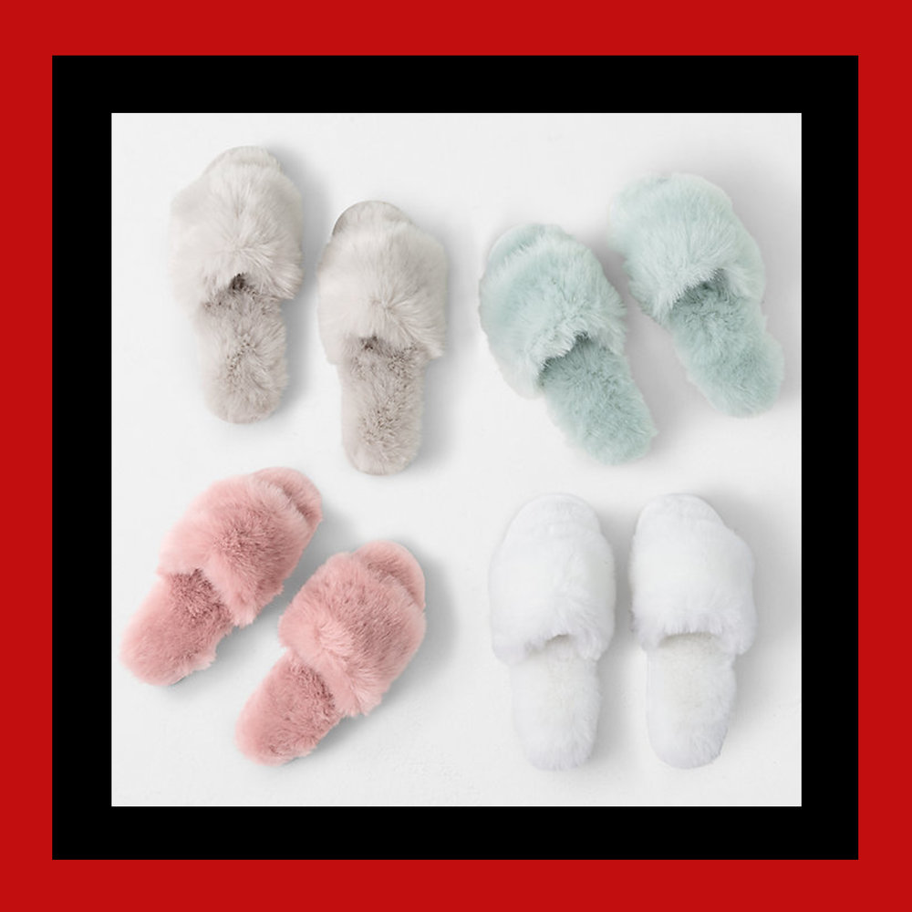 KASHMIR FAUX FUR SLIDES