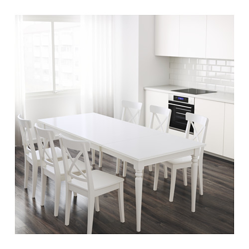 Ikea Ingatorp Extendable White Table