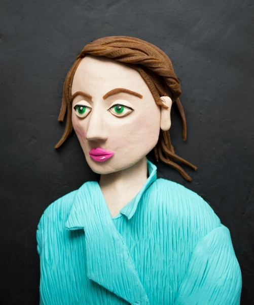 Self-portrait in Play-Doh, original photo by Kristina Svalgik