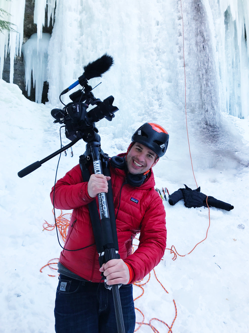 Interviewing ice climbers in the upper peninsula of Michigan