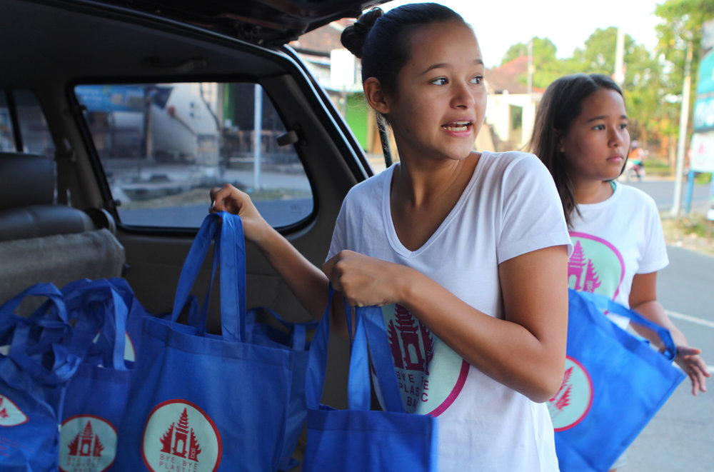 Indonesia - Bye Bye Plastic Bags started when two sisters, Melati (12) and Isabel (10) organized the children of Bali to collect a million signatures on a petition to stop the use of plastic bags. The youngsters distribute reusable bags plus sponsor beach and roadside clean ups.
