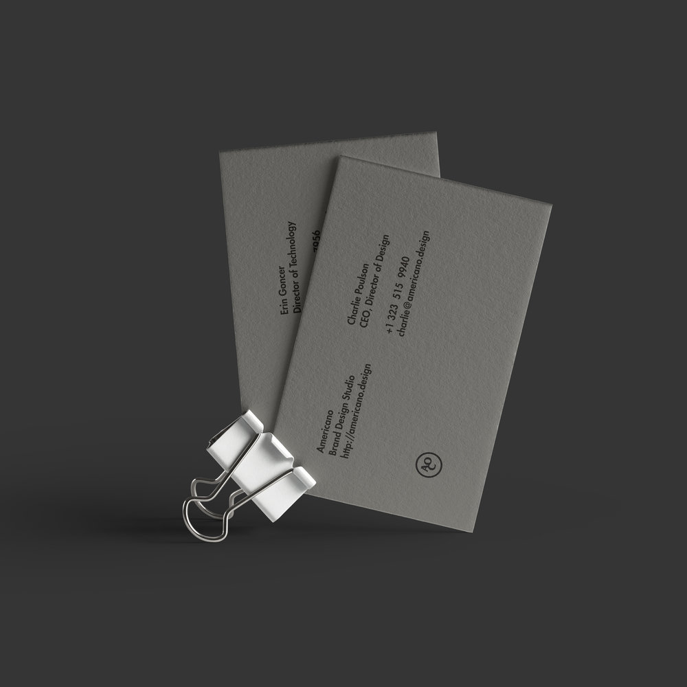 Letterpressed Business Cards