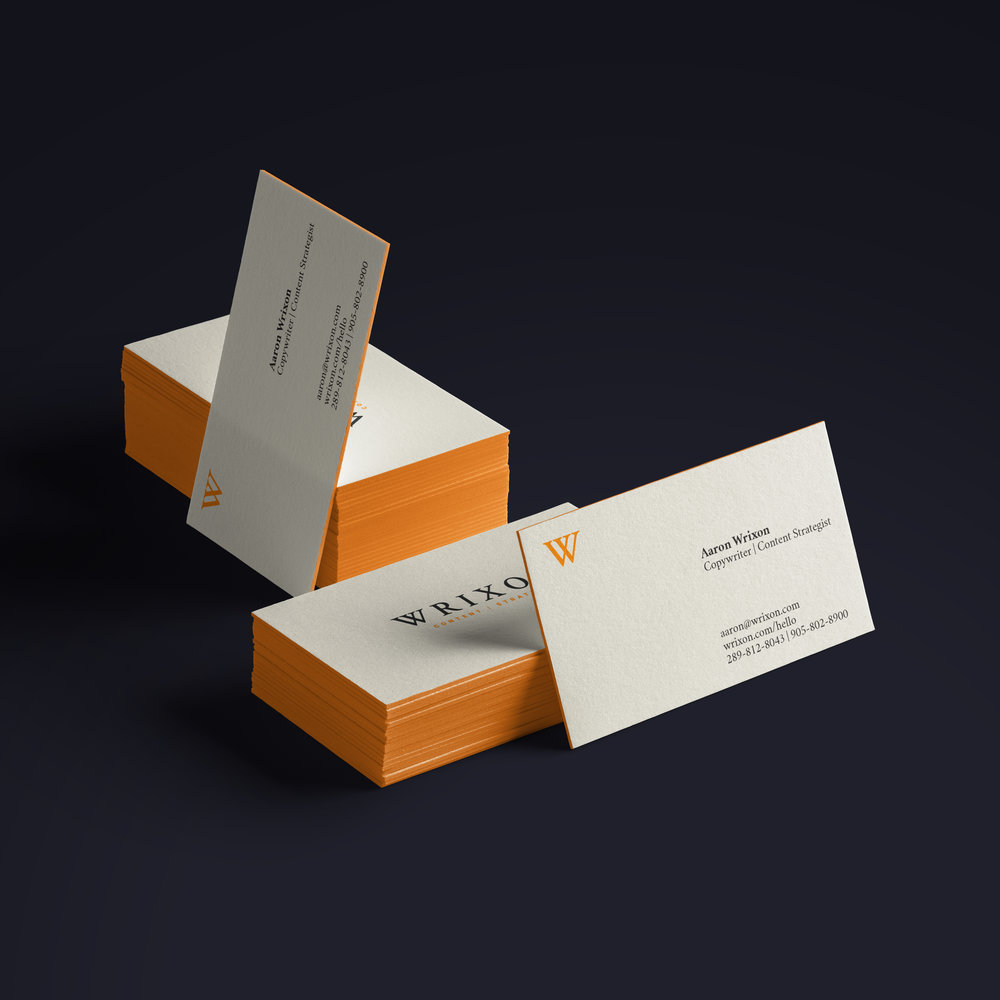 Edge Colored Business Cards