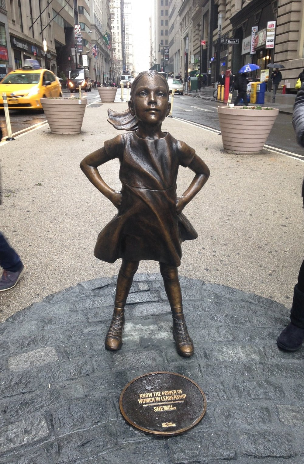 "Is there a fearless girl inside of you? ""Fearless Girl"" photographed by Federica Valabrega"