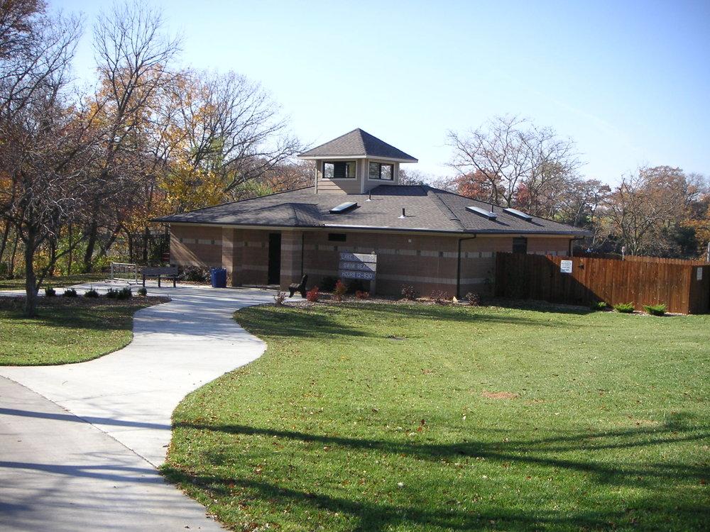 Lake Shawnee Swimming Beach   Client: Shawnee County Architect: Schwerdt Design Group