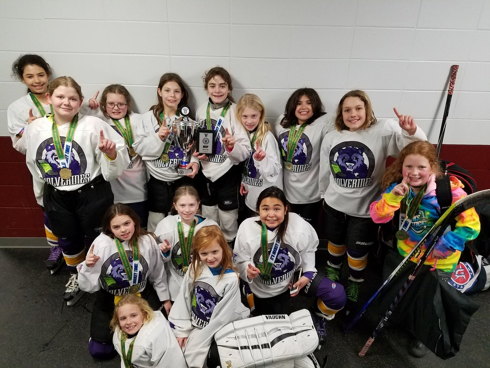 U10 champions at Girls Irish South Bend Cup, Feb 2018