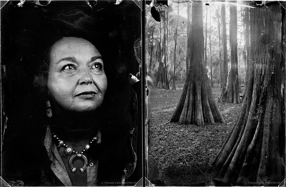 Bernadette Therese Ortiz Pena and Carter Lake, 2017, diptych gelatin silver prints, 60 x 40 cm