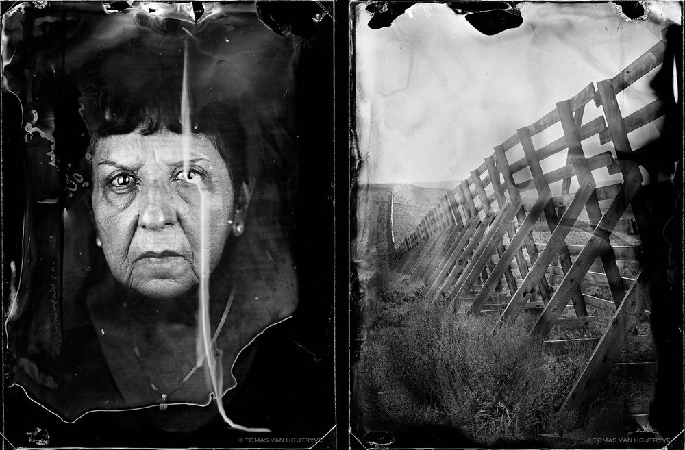 Dorothy Mary Gallegos and Saratoga, 2017, diptych gelatin silver prints,  60 x 40 cm