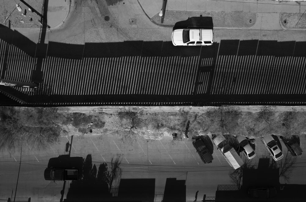 A U.S. Border Patrol truck is parked near fencing on the Mexico-U.S. border in Nogales, Sonora and Arizona.
