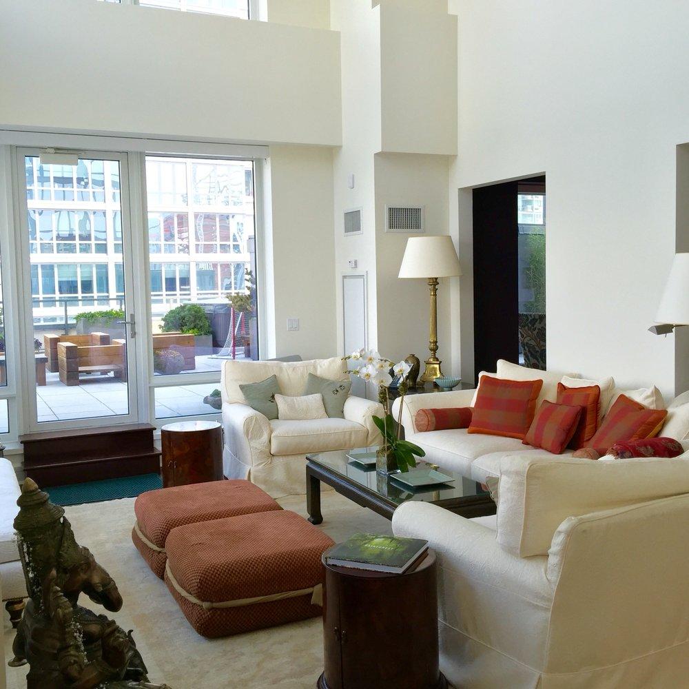 custom slipcovered furniture and restored furniture